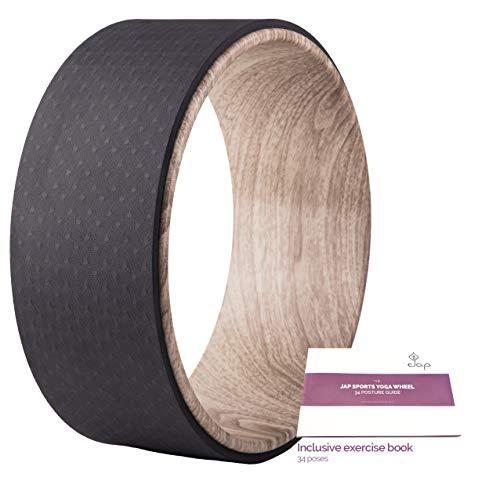JAP Sports - Yoga Rad mit Yoga-Übungsbuch - Sport Pilates Fitness Balance Wheel - Naturkautschuk ABS - 33 x...