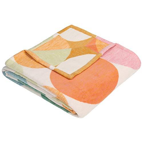 Ibena Venedig Baumwolldecke 140x200 cm - Kuscheldecke 100% Baumwolle pastell bunt, angenehm leichte und kuschelweiche Wolldecke, hochwertige Qualität Made in Germany