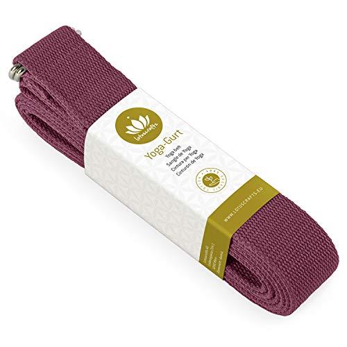 Lotuscrafts Yogagurt - 100% Baumwolle (KBA) - für bessere Dehnung - für Anfänger und Fortgeschrittene -...