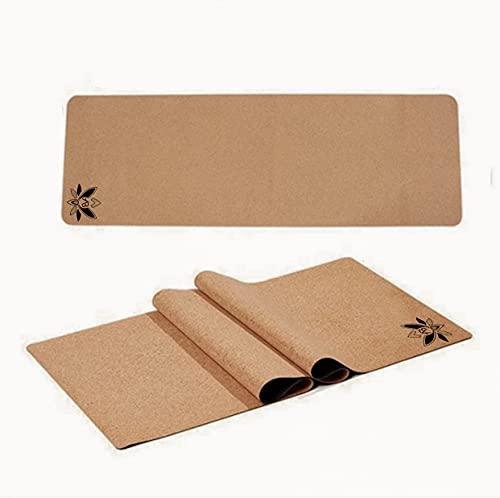AB Pilates und Yogamatte aus Kork und TPE - rutschfest, leicht,sondergröße 183x66x0,5 cm