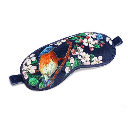 Schlafmasken Lavendel, Sophinique Samt Lavendel Augenmaske,100% lichtblockierende hlafbrille für Frauen und Männer Augenbinde zum Schlafen, für Reisen