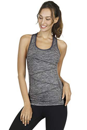 Disbest Sport Tanktop Damen Yoga Top mit atmungsaktive schnelltrocknende Stoffe und Komfort Nahtlos Design Integrierte Bras für Yoga Training Laufen Wandern Fitness Freizeitkleidung