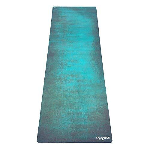 Yoga Design Lab Combo Yogamatte 3,5mm | rutschfest, Matte/Handtuch, Guter Halt bei viel Schweiß, Naturkautschuk | mit Tragegurt (Aegean Green)