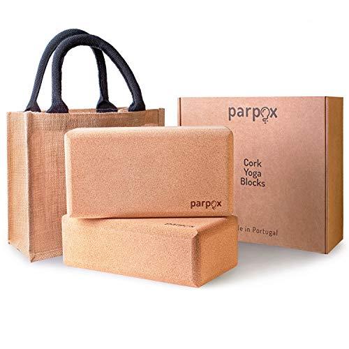 Premium Yoga Block Kork Set | 100% Natürliches und Nachhaltiges Korkmaterial | Mit Lagerung und Tragetasche |...