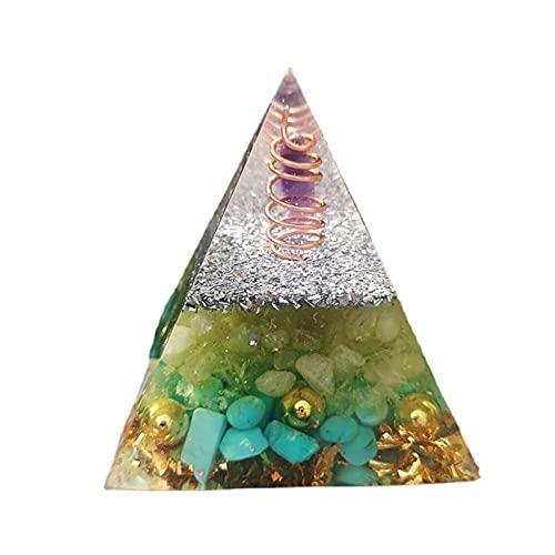 YUXINYAN Meditationszubehör Handgemachte Kristallpyramide Dekoration Harz Handwerk Desktop Dekoration Pyramide