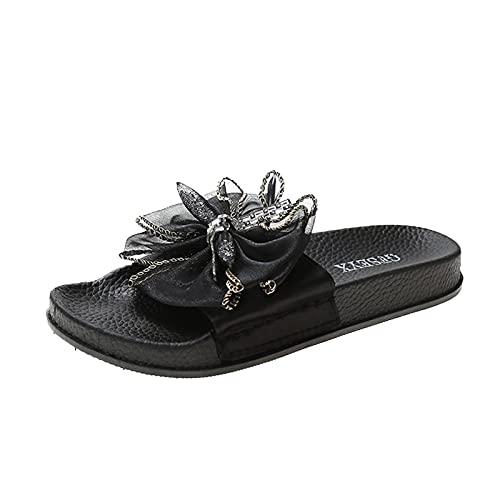 YAOBF Frauen Bequeme Yoga Fußbett Badelatschen Schuhe Hausschuhe Junge Field Sommerschuhe Birckenstbadeschuhe (Schwarz 1,37)