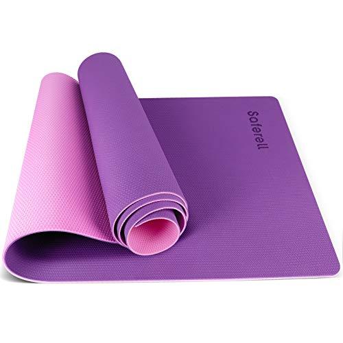 Saferell Yogamatte Gymnastikmatte rutschfeste aus TPE,Hypoallergen sportmatte mit Tragegurt,Fitnessmatte für...