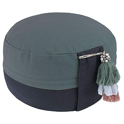 Lotus Design Meditationskissen Yogakissen Bio, Classic Yin-Yang, 15 cm hoch, Bezug 100% Bio-Baumwolle...