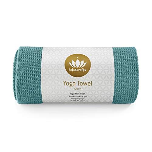 Lotuscrafts Yoga Handtuch Wet Grip - rutschfest & Schnelltrocknend - Antirutsch Yogatuch mit hoher...
