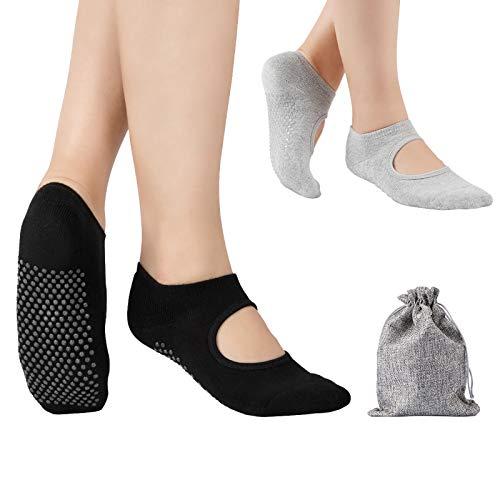 Tusscle Yoga Socken für Damen rutschfest, Ideal für Yoga Pilates, Ballett,Tanz,Barre,Fitness,...