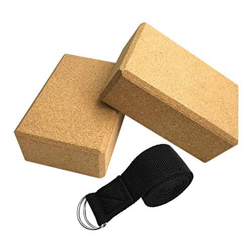 Yoga block xxl 3 stücke Yoga Block Korken Sport Startseite Gym Übung Holz Yoga Ziegel Weiche Hohe Dichte Block Für Indoor Sport Übung Training Fitness yoga block xxl ( Color : Yoga Cork Blocks set )