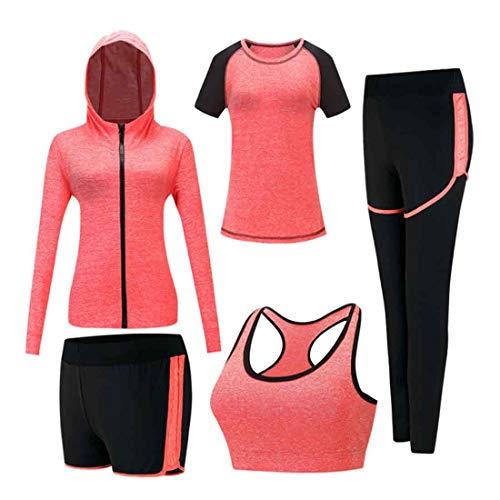 Inlefen Damen Trainingsanzug-Sets Sportanzug-Set weich und bequem Schnelltrocknend...