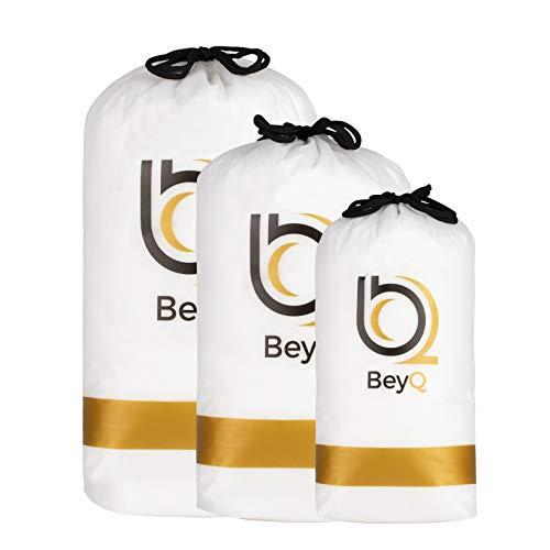 BeyQ® Füllwatte - 300g - flauschiges Füllmaterial im praktischen Kordelzugbeutel - Watte - 95°C waschbar & trocknergeeignet - für Kuscheltiere, Kissen, etc.