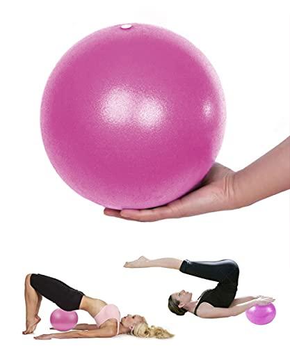 Mupack Gymnastikball Klein Pilates Ball - 25 cm Yoga Pilates Ball Kleine Übung Ball, Gymnastikball inkl Ballpumpe, Rutschfester&Superleichter Soft Pilates Ball, Fitness Ball für Yoga,Heim, Büro(Pink)