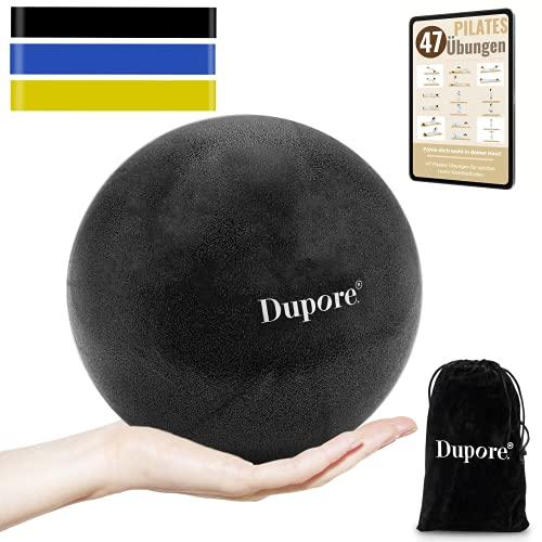 Dupore. Rutschfester & Superleichter Soft Pilates Ball + 3X Fitness Band Set aus hochwertigem Naturlatex - 23 cm - Effektives Training + GRATIS Pilates Ebook