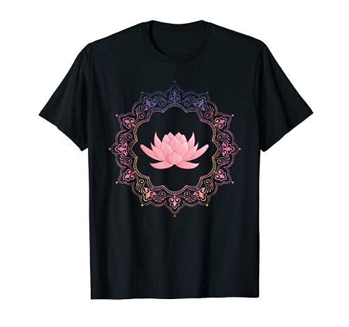 Lotus Mandala   Spiritual New Age Buddhist Yoga T-Shirt