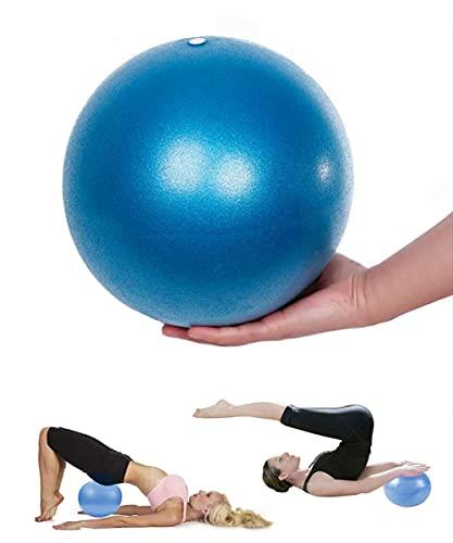 Mupack Gymnastikball Klein Pilates Ball - 25 cm Yoga Pilates Ball Kleine Übung Ball, Gymnastikball inkl Ballpumpe, Rutschfester&Superleichter Soft Pilates Ball, Fitness Ball für Yoga,Heim, Büro(Blau)