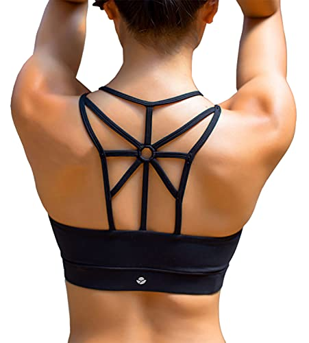 YIANNA Damen Sport BH Ohne Buegel Bequem Bustier Elastizität Fitness Yoga Sports Bra Crop Top mit Abnehmbare...