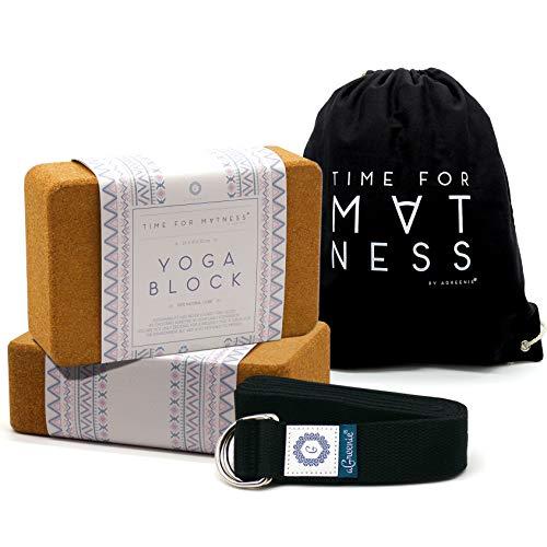 aGreenie Premium Yoga Block aus Kork - 100% Naturprodukt - 1er oder 2er Set - Yoga Klotz für Fitness und...