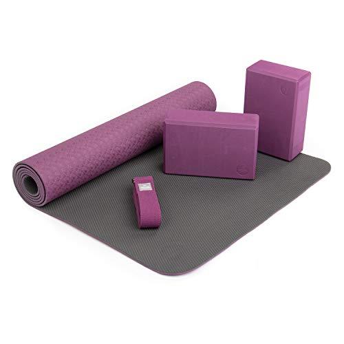 Bodhi Yoga-Set Flow, 1 Yogamatte aus TPE, 2 Yoga-Bricks aus Eva (Moosgummi), 1 Yoga-Gurt aus Baumwolle,...