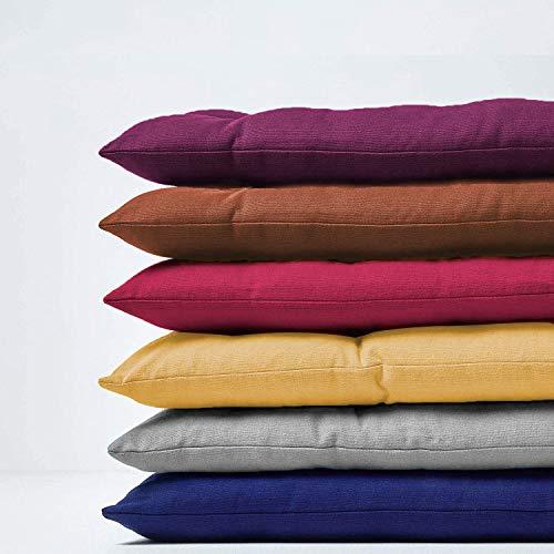 Bankkissen für 2- und 3-Sitzer, dick, 8 cm, rechteckig, Baumwolle, für den Innen- und Außenbereich (110 x 40 cm, grau)