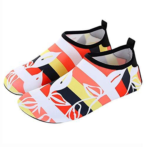 ReedG Wasserschuhe Outdoor-Damen Wassersport Haut Schuhe Strand Schwimmbad Surf Yoga Schwimmen Strandschuhe (Color : Multi-Colored, Größe : 42-43)