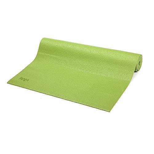 Bodhi Yoga-Matte ASANA aus PVC, schadstofffrei, rutschfest, waschbar, perfekt für Einsteiger, Fitness- und Pilates-Matte, 183 x 60 cm, 4 mm (olivgrün)