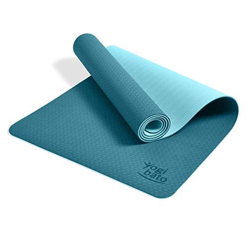 Yogibato Yogamatte TPE – rutschfeste Gymnastikmatte Sportmatte – Matte mit Tragegurt für Gymnastik...