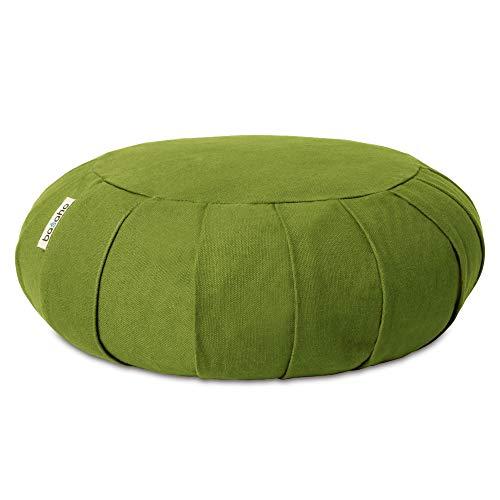 basaho Classic Zafu Meditationskissen Yogakissen | Bio-Baumwolle (GOTS-Zertifiziert) | Buchweizenschalen |...