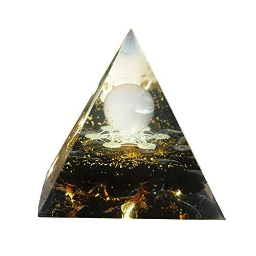 Amethyst Crystal Rose Quartz Orgone Sphere Pyramids, Positive Energy Generato, Meditationsset(Wie gezeigt)