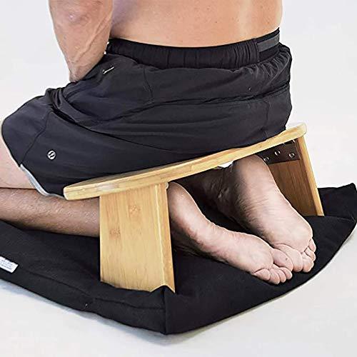 Klappbare Meditationsbank Mit Abgewinkelten Beinen, Perfekter Kniender Hocker Ergonomisch , Geeignet Für Yoga, Meditation