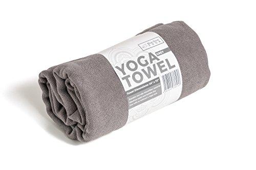 Blue Dove Mikrofaser-Handtuch für Yoga, 183 cm lang, 61 cm breit, rutschfest, leicht, grau
