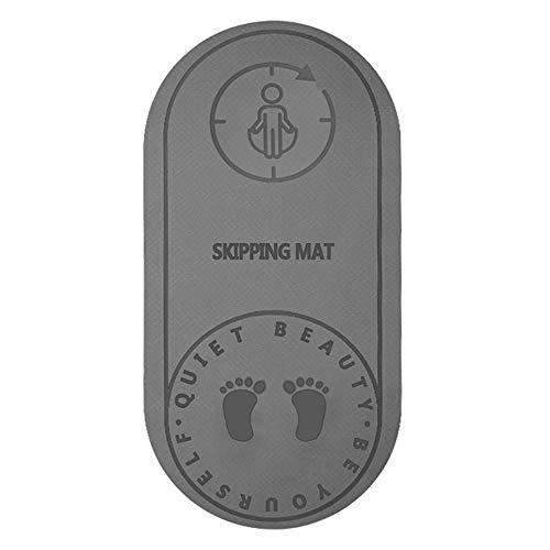 Luopei Seilspringmatte, hochdichte Indoor-Sportmatte mit Schalldämmung und Stoßdämpfung, rutschfest und wasserdicht, und langlebige Fitnessmatte