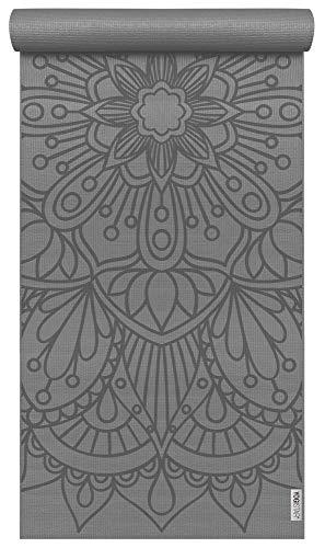 Yogistar Yogamatte Basic Art Collection Lotus Mandala Graphite