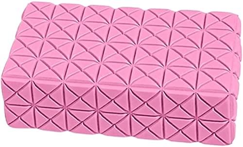 Schlaf steigern Yoga- Blöcke Eva Yoga- Block Thick nicht Beleg Gym Foam Brick Yoga Bolster-Kissen- Kissen for Anfänger und Fortgeschrittene Beruhigen Körper und Geist(Farbe: Rosa Größe: 22 x 13 x7 cm)