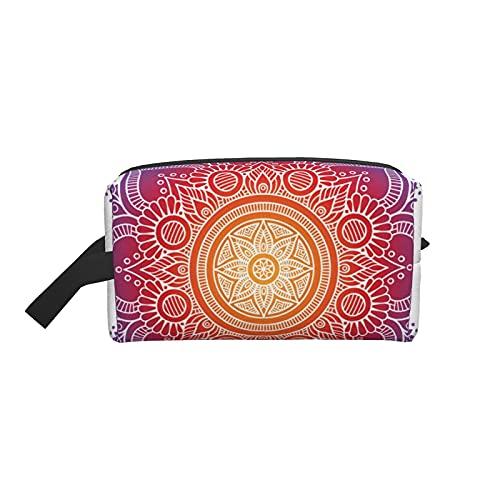 Kosmetiktasche Meditationskissen mit Mandala Kosmetik Reisetasche Große Kulturtasche Tragbare Make-up Tasche Organizer Make