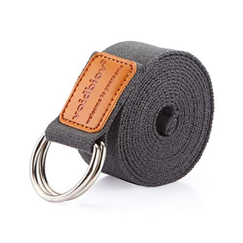 voidbiov D-Ring-Schnalle Yoga-Gurt, Strapazierfähiger BaumwolleVerstellbarer Gürtel, Perfekt Für Haltungen...