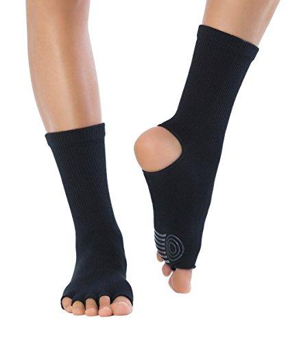 Knitido Yoga-Socken Yoga Flow, Rutschfeste Zehensocken für Yoga, Pilates und Tanz mit offenen Zehen und Grip,...