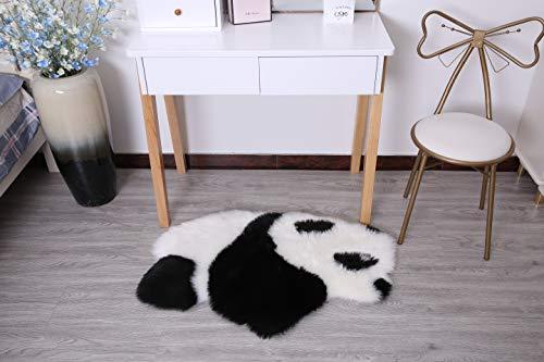 Kunstfell-Teppich, Cartoon-Design, weich, zottelig, für drinnen und drinnen, Kunst-Wildleder, süße Cartoon-Dekoration, Schlafzimmer-Matte, Wohnzimmer-Teppich, Lese-Raum-Teppich