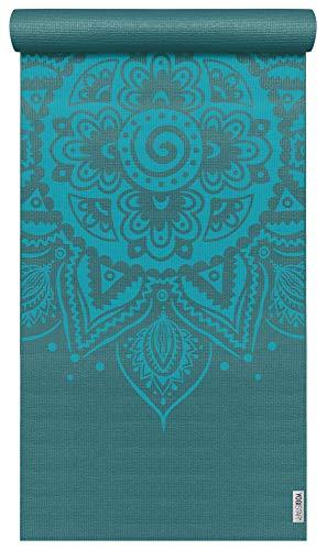 Yogistar Yogamatte Basic Art Collection Spiral Mandala Petrol