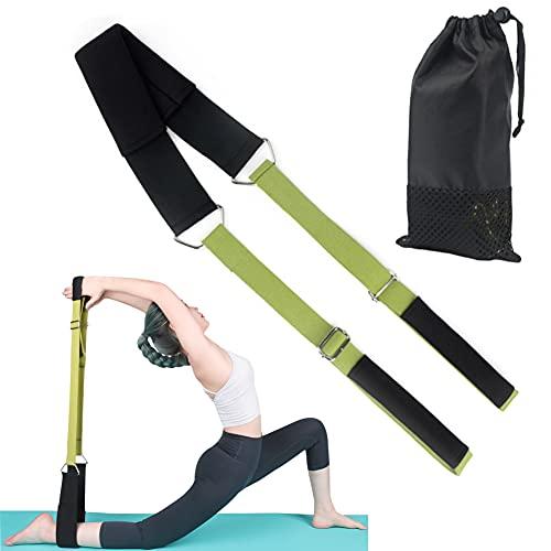 Yoga Stretch Gurt Widerstandsbänder Yoga Seil,Yoga Stretching Band mit verstellbarer Eisenschnalle,Gymnastikband wird für Physiotherapie,Rehabilitation,Dehnung,Heimfitness verwendet.