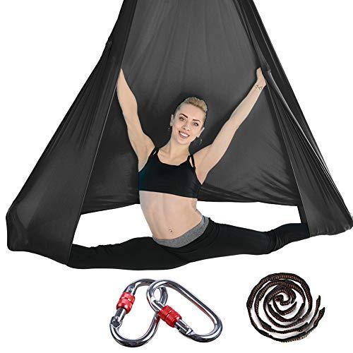 Brinny Aerial Yoga Tuch Premium Silks Aerial Equipment DIY Elastische Yoga Hängematte Tuch Sling Swing Vertikaltuch Yogatuch Hammock Fitness für Pilates Gymnastik Antigravity Inversionsübungen