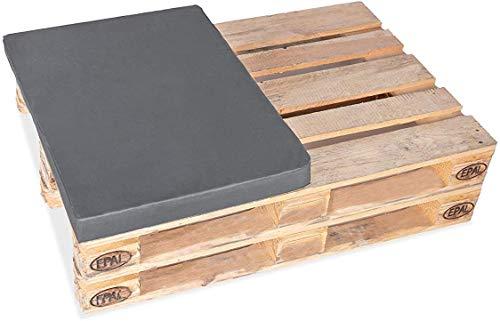 TexDeko BEZUG (ohne Schaumstoff/Füllung) für Palettenkissen, Palettenpolster 60x80cm für halbe Europalette In & Outdoor (60x80x8cm, Bordeaux)