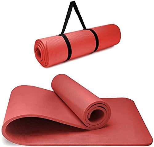 BLAZOR Yogamatte , Sportmatte Fitnessmatte Rutschfest Für Yoga Training Balance Pilates Fitness Sport, Extradick Tpe Yogamatte Gymnastikmatte Workout Matte Für Zuhause, Outdoor, Gym, Home ca-yjd-de2