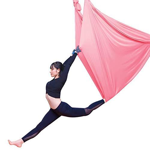 Therapieschaukel Kinder Aerial Yoga Fitness Tuch Set Anti Gravity Yoga Swing Aerial Yoga Hängematte (Color : Light pink, Size : 5x2.8m)