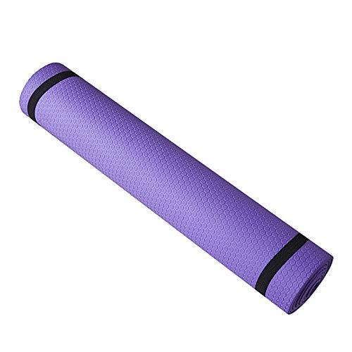 Pilates EVA Mat,Trainingsmatte, Trainingsmatte, Rutschfeste 6mm Dicke Yogamatte für Frauen Männer Fitness Trainieren von Heim Fitnessgeräten (Lila) Sports Exercise Pad Eco-friendly