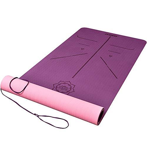 DAWAY rutschfeste TPE Yogamatte Schadstofffrei - Y8 Dicke Gymnastikmatte Fitnessmatte Sportmatte für Yoga,...
