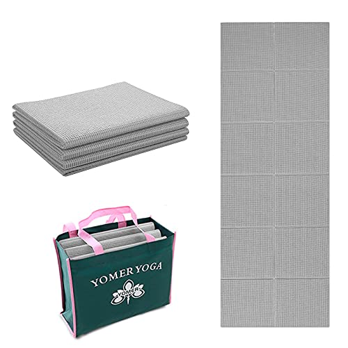 Yogamatte für Schmerzfreies Üben 180x80cm - Faltbare, Rutschfeste und Gelenkschonende Gymnastikmatte, 6mm Dick, Weich und Extra Gross