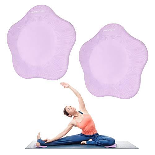 E-More 2PCS Yoga Knieschoner, Anti Rutsch Schaum Yoga Knieschoner, Bequemes Yoga Stützpolster, Sport Balance Kissen zum Schutz von Knie, Knöchel, Ellbogen und Hand