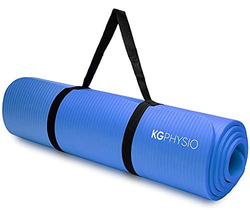 KG Physio Yogamatte Rutschfest - Sportmatte, Gymnastikmatte, Fitnessmatte, Trainingsmatte mit Tragegurt - Schadstofffrei Yoga Matte Ideal für Sport, Fitness und Yoga zuhause - 183cm x 60cm x 10mm…